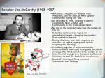 senator joe mccarthy 1908 1957