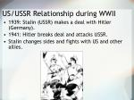 us ussr relationship during wwii