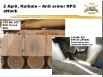 2 april karbala anti armor rpg attack