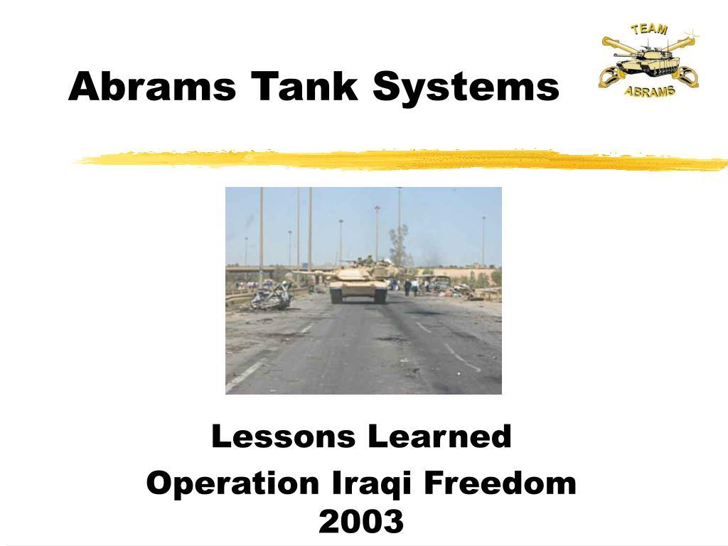 abrams tank systems l.