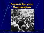 franco german cooperation