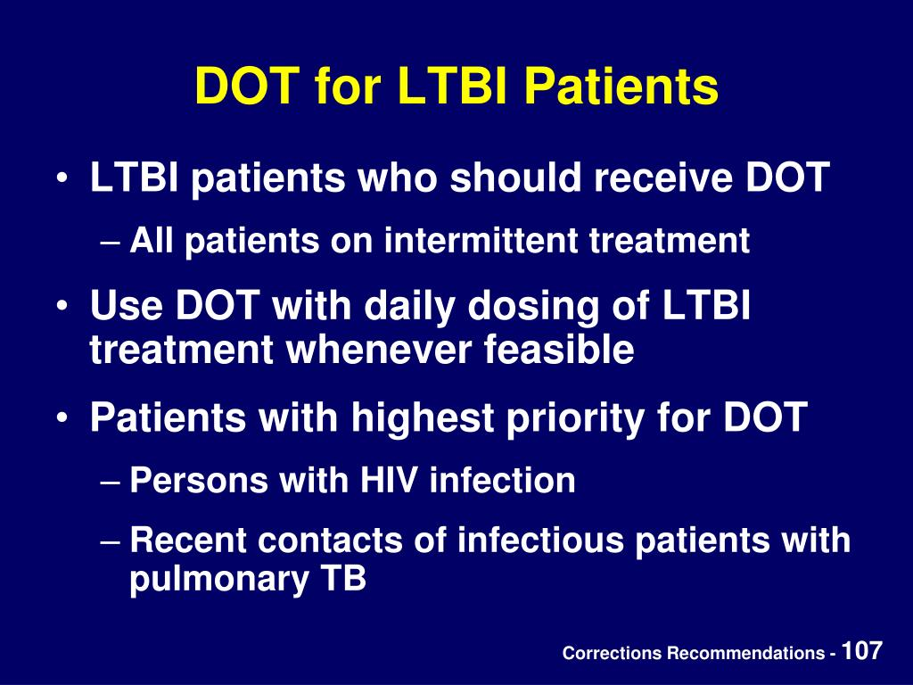 DOT for LTBI Patients