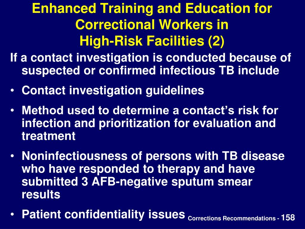 Enhanced Training and Education for Correctional Workers in