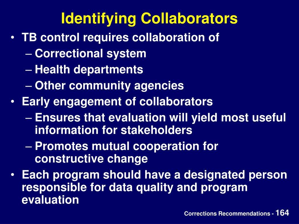 Identifying Collaborators