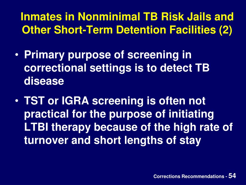 Inmates in Nonminimal TB Risk Jails and Other Short-Term Detention Facilities (2)