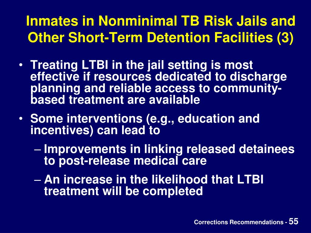 Inmates in Nonminimal TB Risk Jails and Other Short-Term Detention Facilities (3)