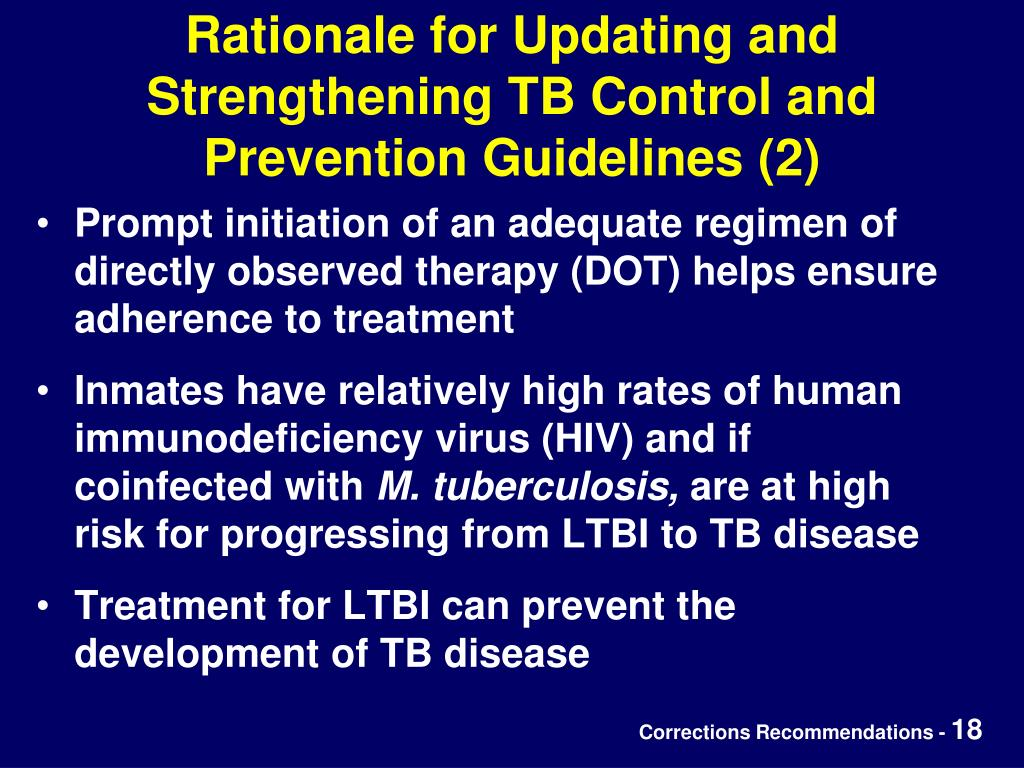 Rationale for Updating and Strengthening TB Control and Prevention Guidelines (2)