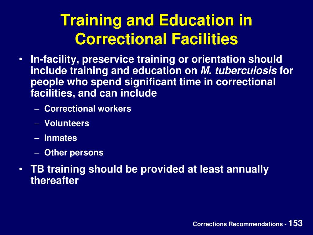 Training and Education in Correctional Facilities