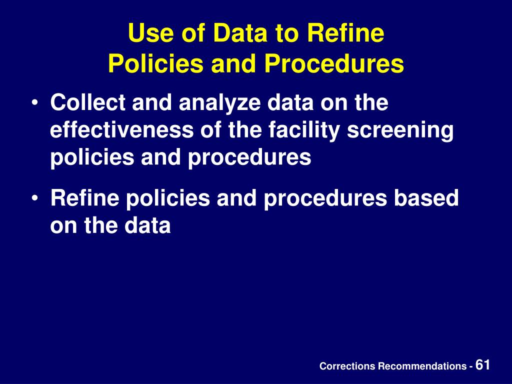 Use of Data to Refine