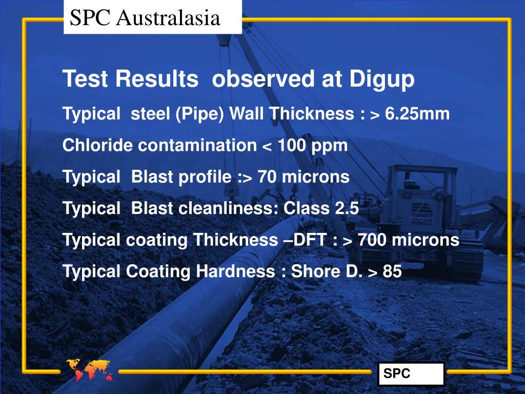 Test Results  observed at Digup