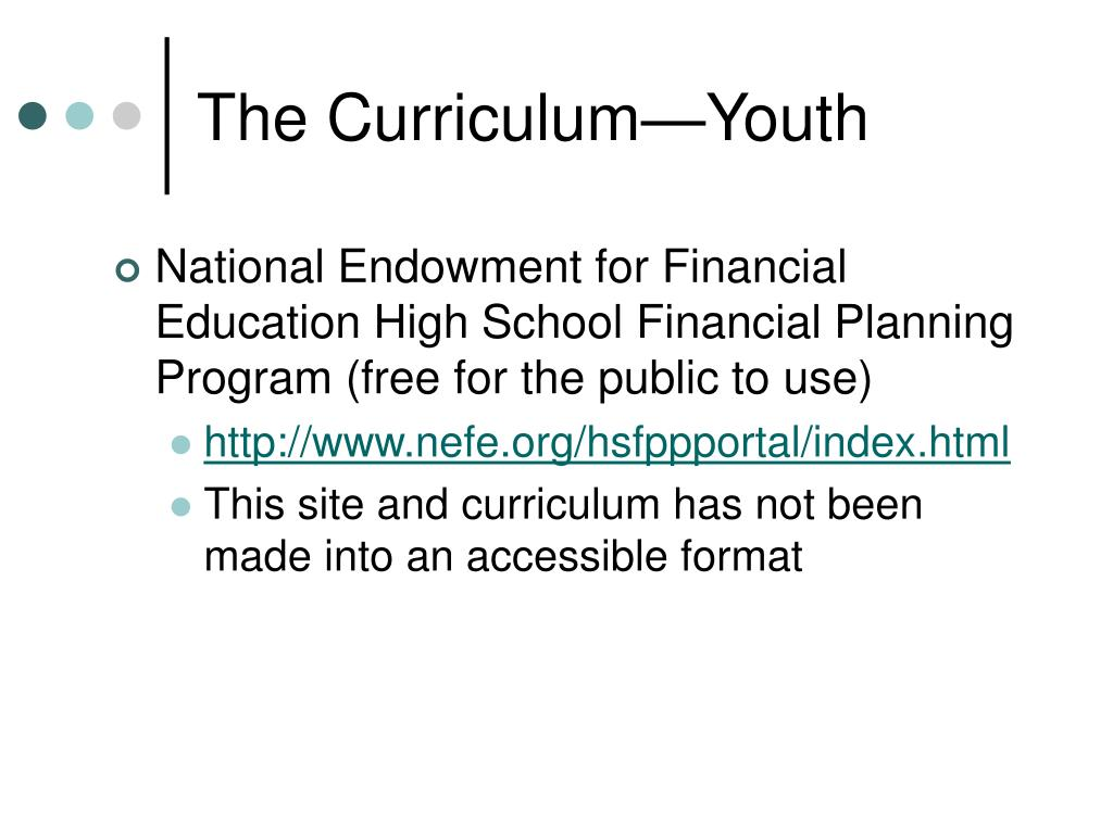 The Curriculum—Youth