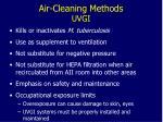 air cleaning methods uvgi