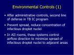 environmental controls 1
