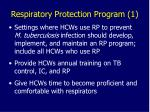 respiratory protection program 1