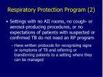 respiratory protection program 2