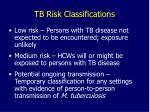 tb risk classifications18