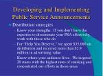 developing and implementing public service announcements16