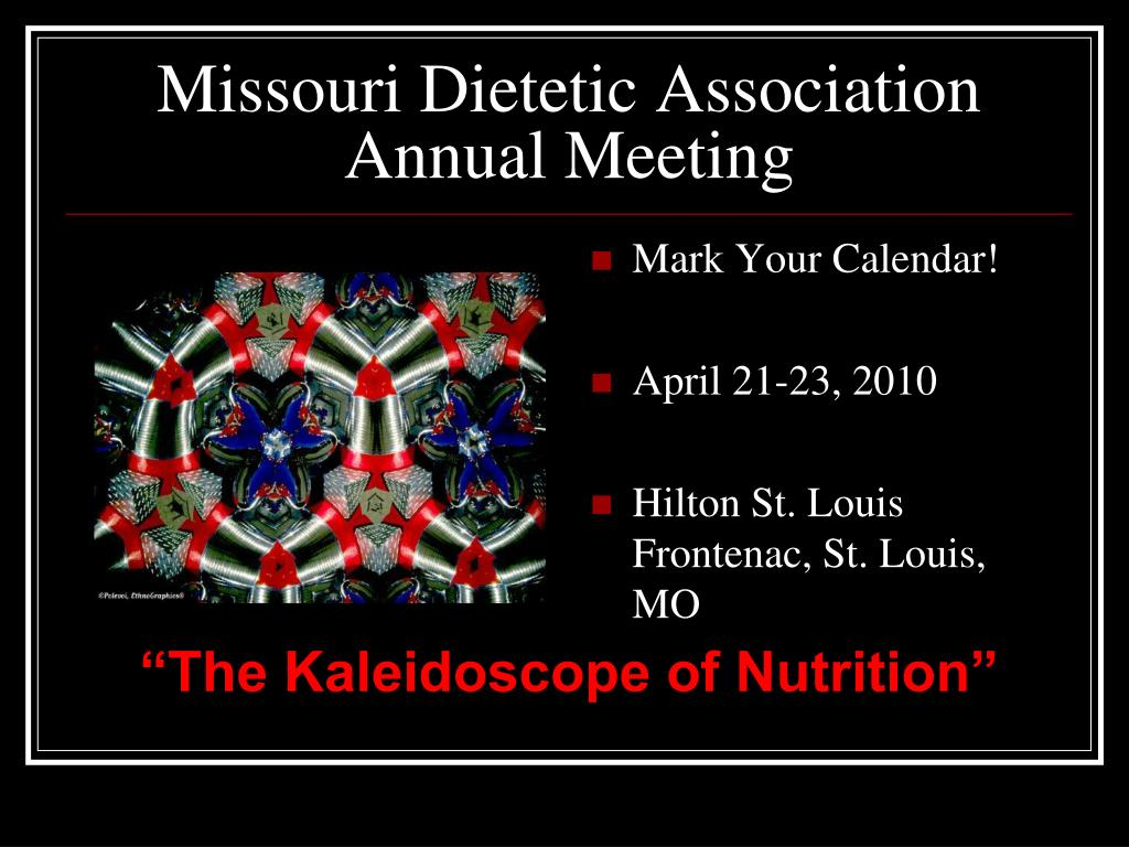 missouri dietetic association annual meeting l.