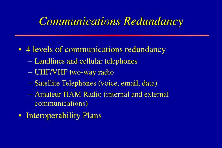 Communications Redundancy