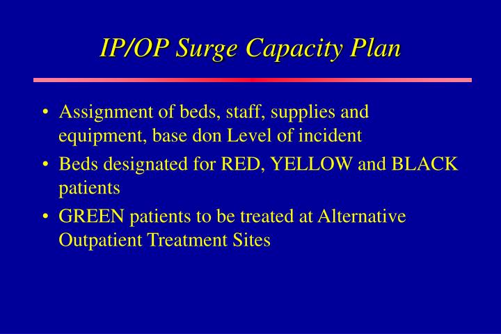 IP/OP Surge Capacity Plan