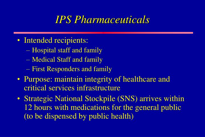 IPS Pharmaceuticals