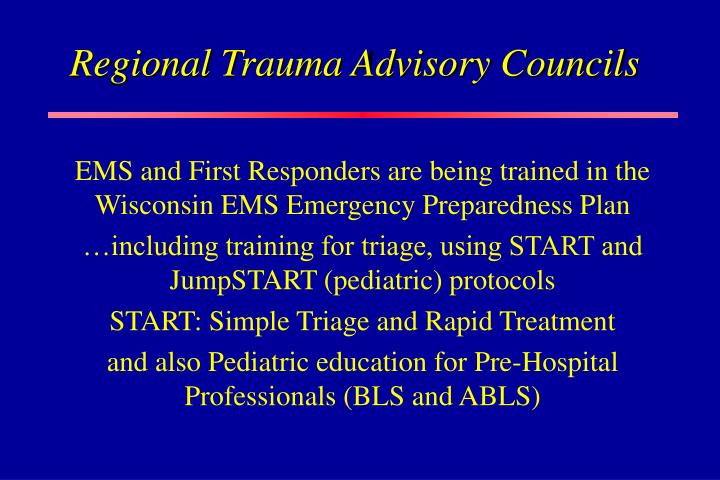 Regional Trauma Advisory Councils