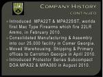 company history continued