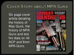 cover story about mpa guns