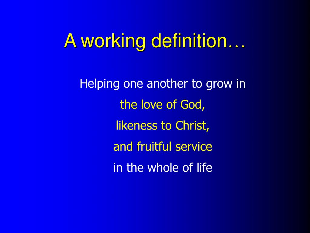A working definition