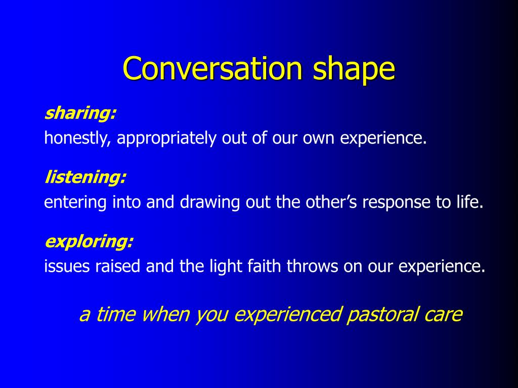 Conversation shape
