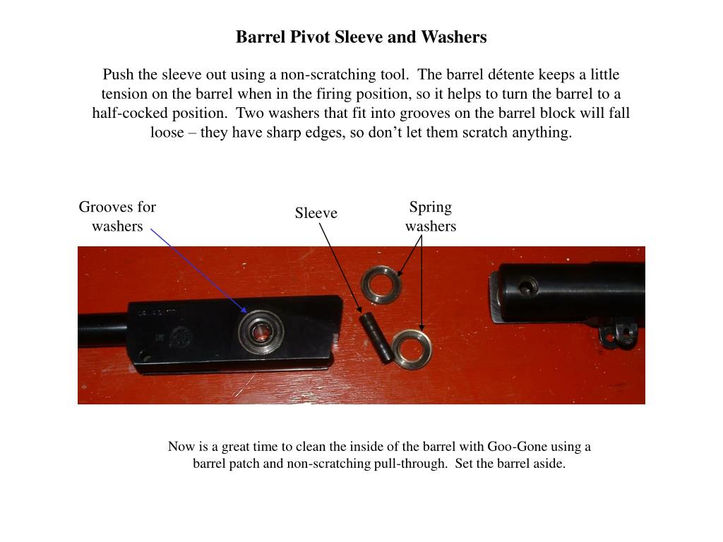 Barrel Pivot Sleeve and Washers