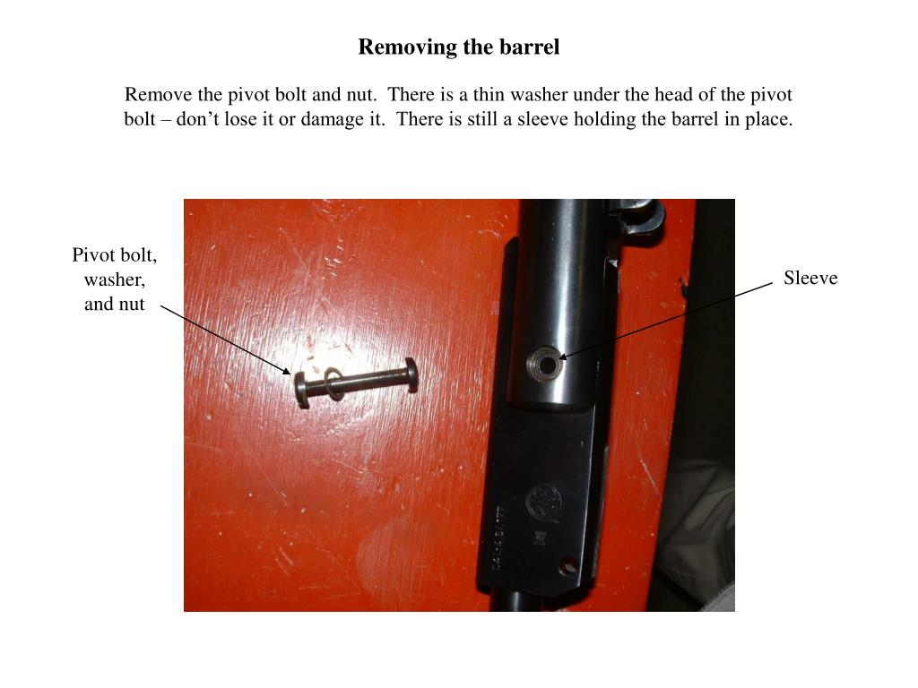 Removing the barrel