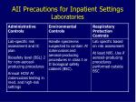 aii precautions for inpatient settings laboratories