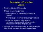 respiratory protection general