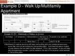 example d walk up multifamily apartment