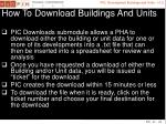 how to download buildings and units