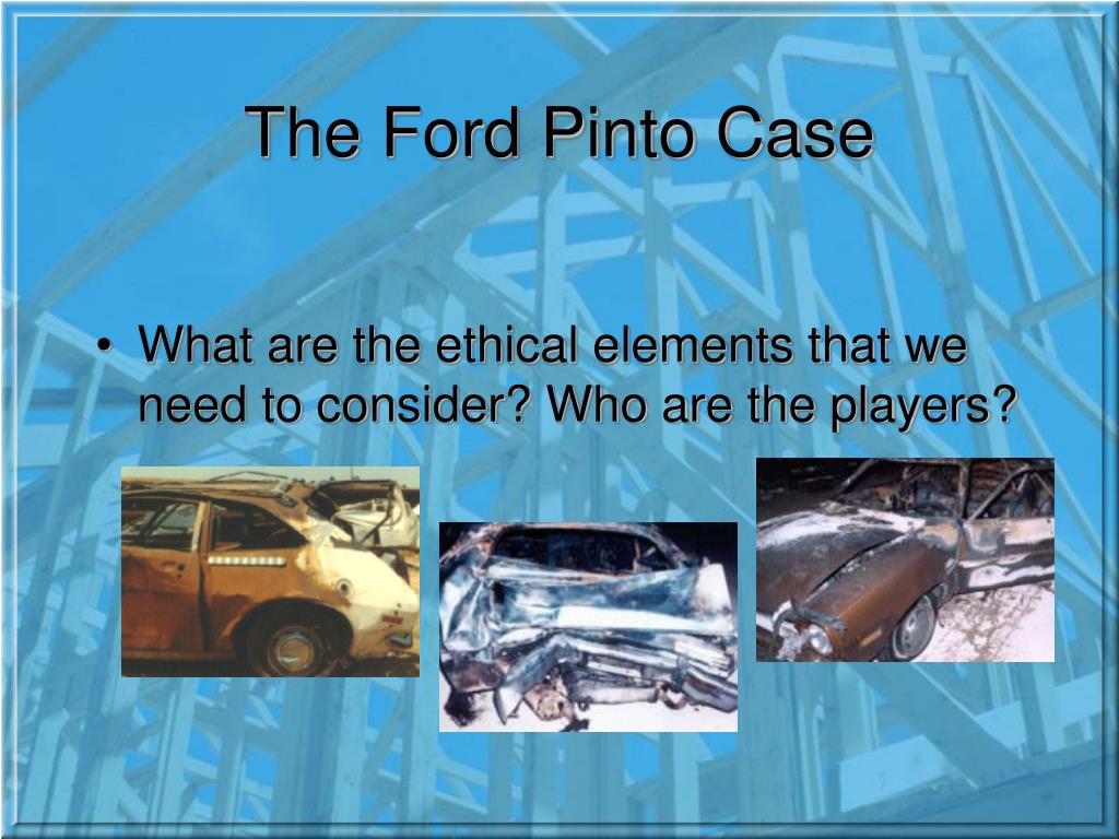 ford pinto case brief