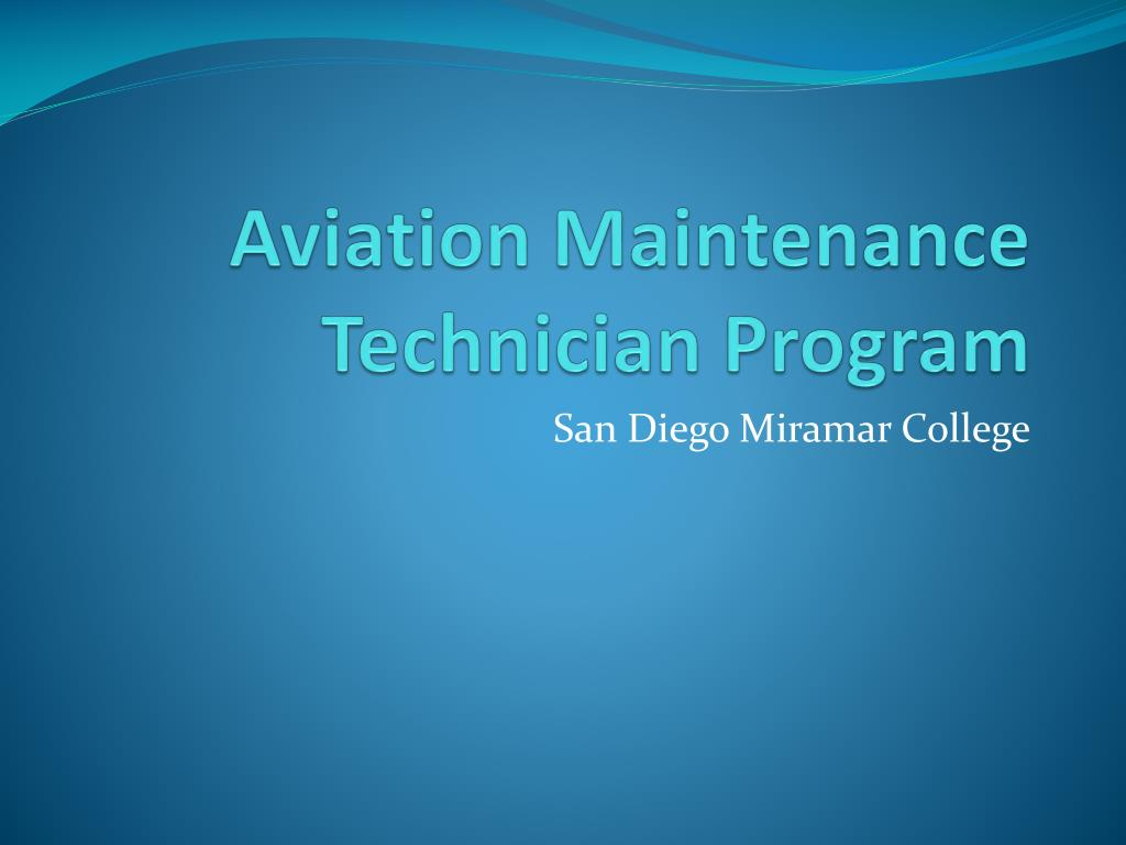 aviation maintenance technician program l.