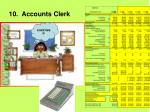 10 accounts clerk