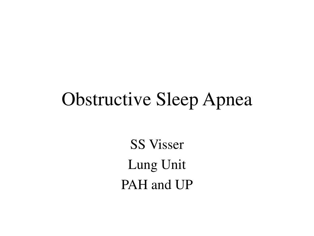 obstructive sleep apnea l.