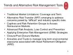 trends and alternative risk management tools