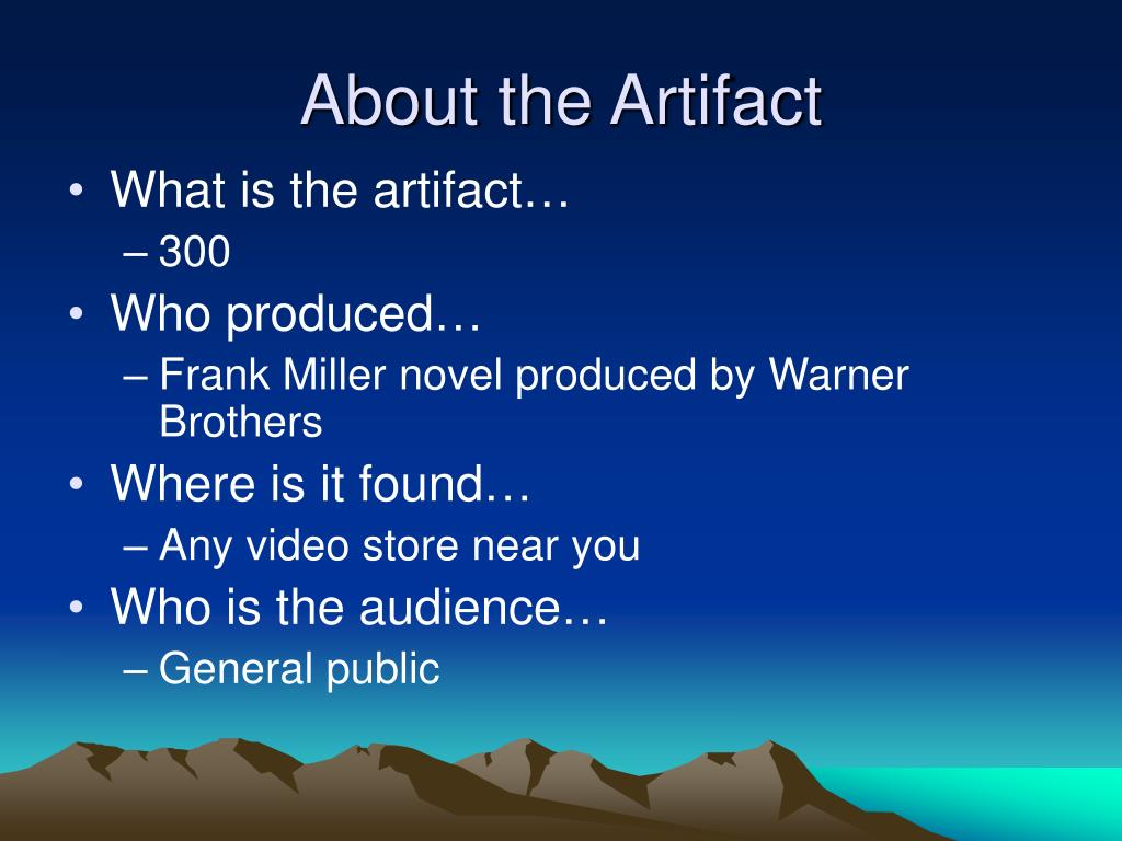 About the Artifact