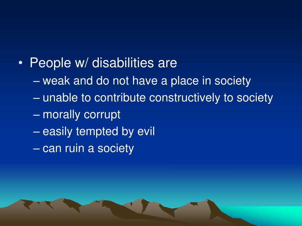 People w/ disabilities are