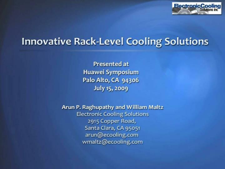 Electronic cooling solutions inc