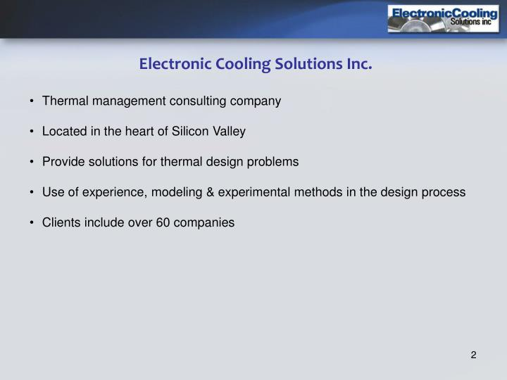 Electronic Cooling Solutions Inc.
