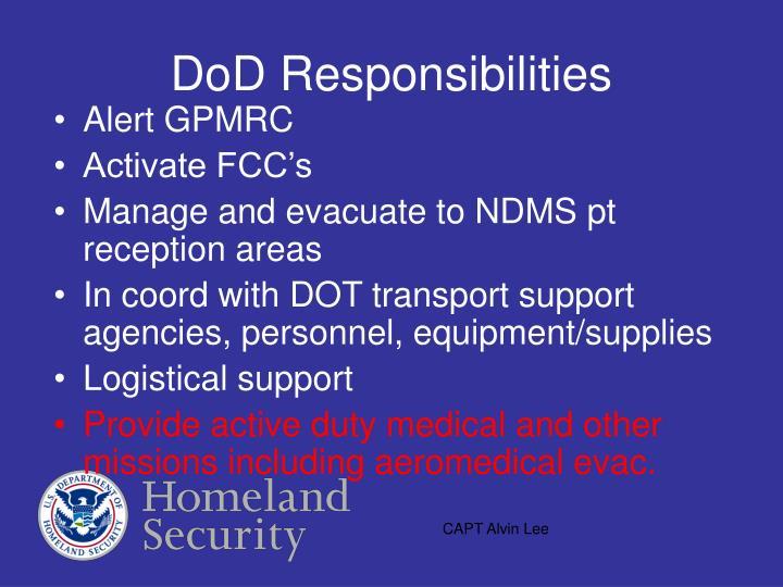 DoD Responsibilities