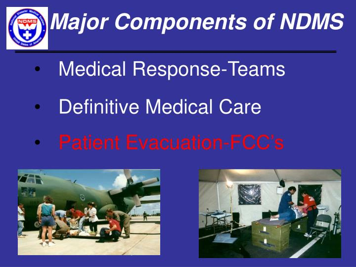 Major components of ndms