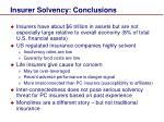 insurer solvency conclusions