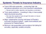 systemic threats to insurance industry