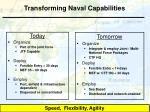 transforming naval capabilities